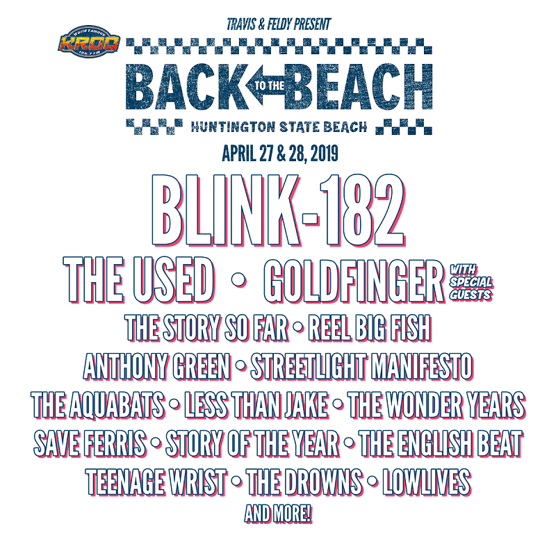 Back to the Beach Festival Lineup 2019