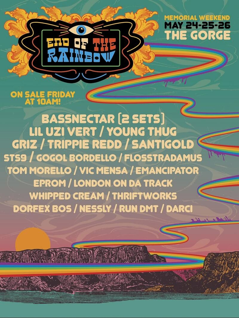 End of the Rainbow Festival 2019 Lineup