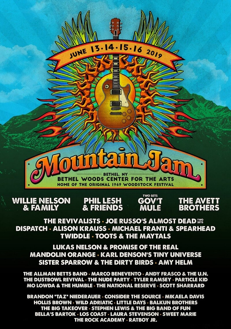 Mountain Jam Festival Lineup