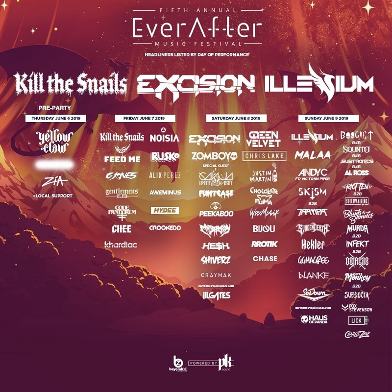 EverAfter Music Festival Lineup