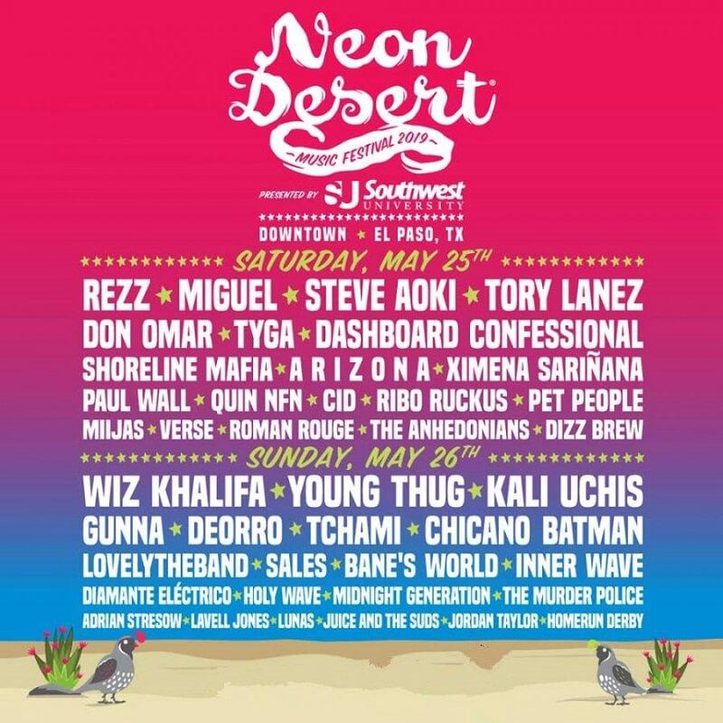 Neon Desert Festival 2019 Lineup