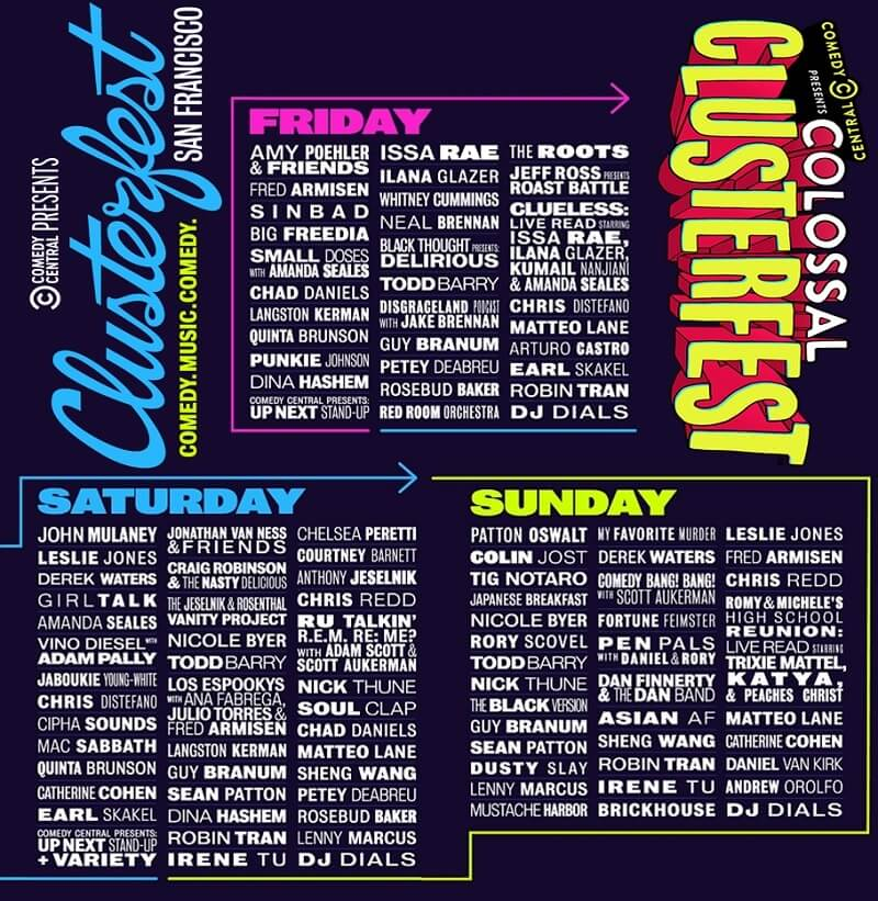 Clusterfest 2019 Lineup