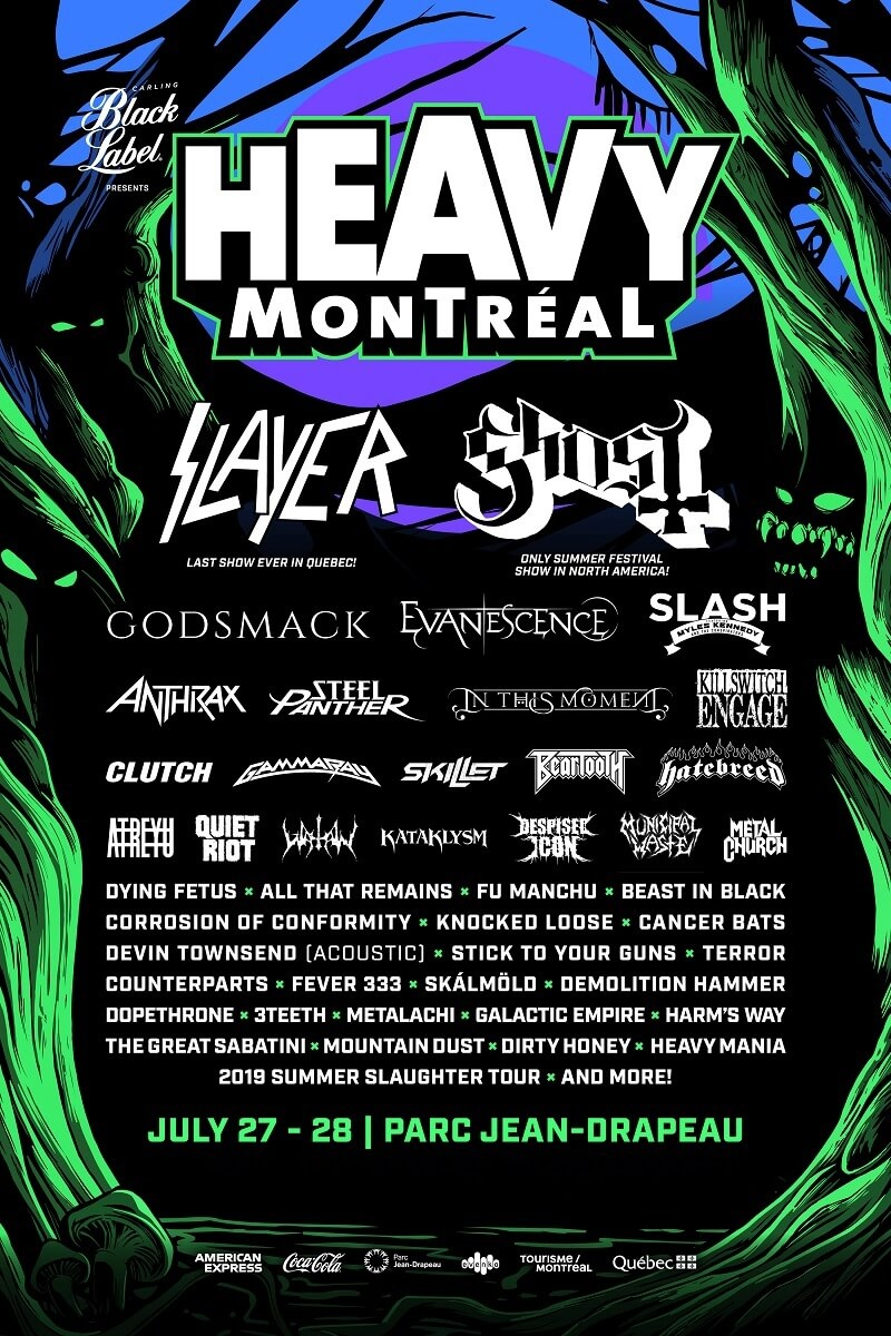 Heavy Montreal 2020 Lineup