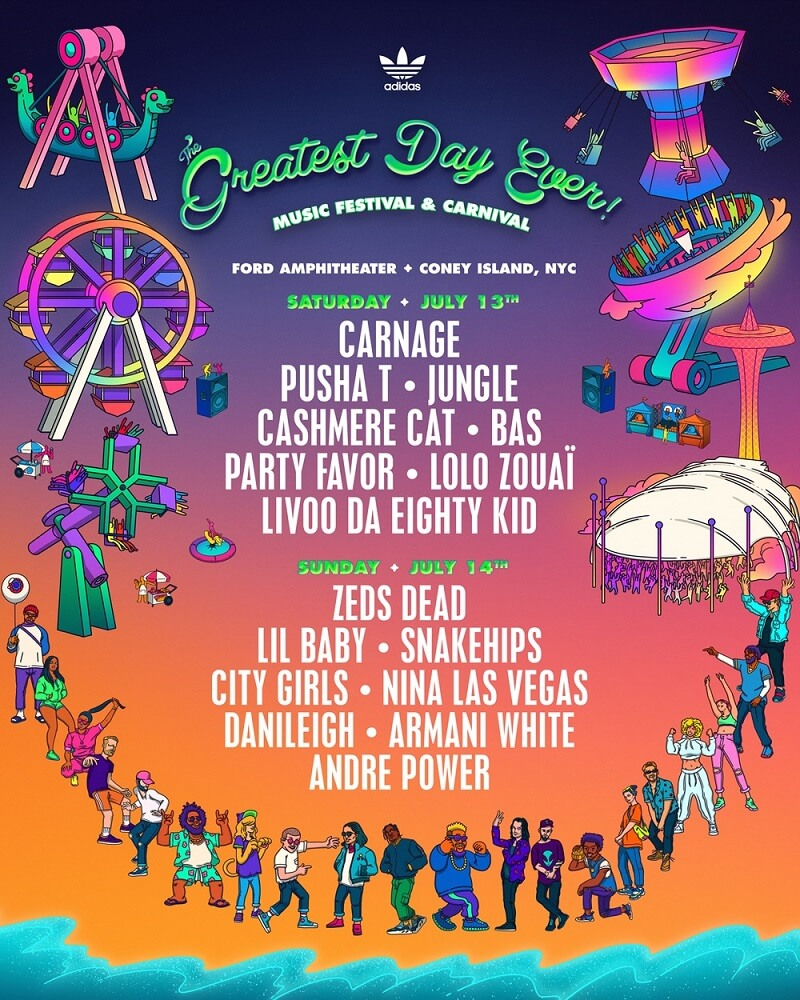 The Greatest Day Ever Festival Lineup