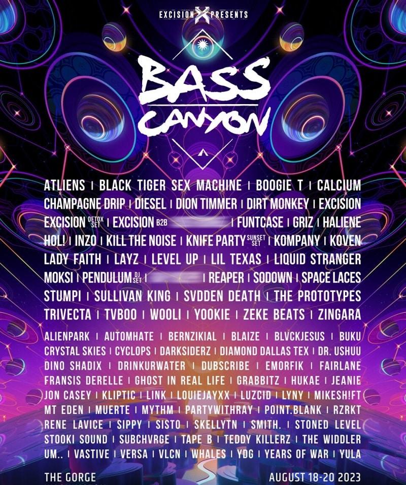 Bass Canyon Festival Lineup 2021