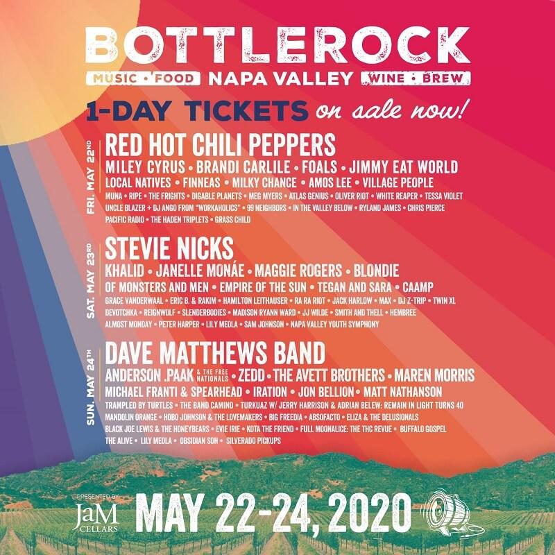 BottleRock Festival 2020 Lineup