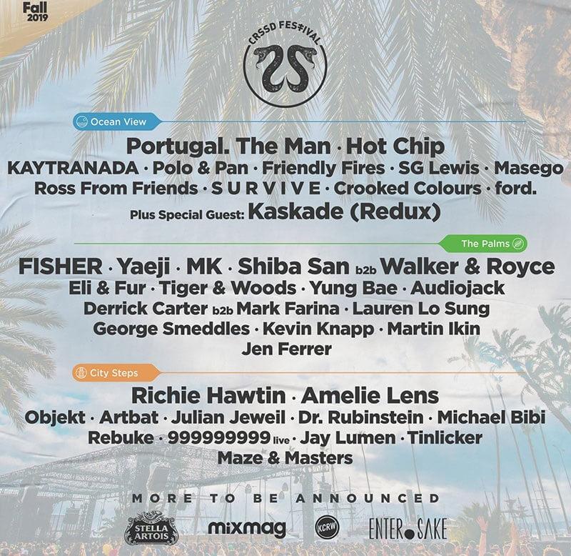 CRSSD Festival 2019 Lineup