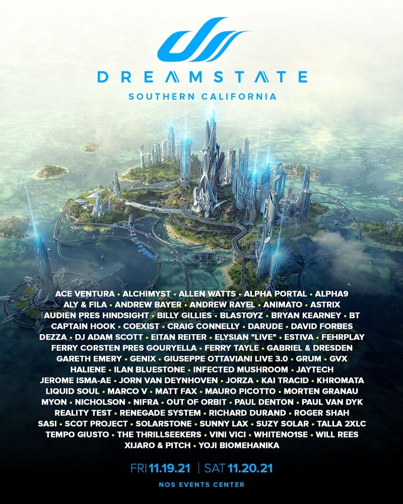 DreamState Festival Lineup 2021