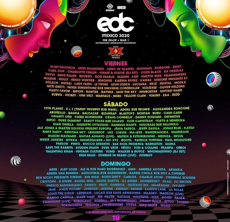 EDC Mexico 2020 Lineup