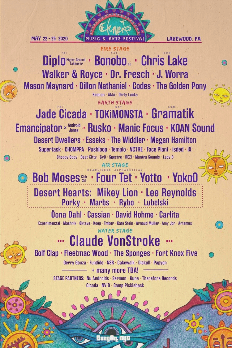 Elements Lakewood Music Festival 2020 Lineup