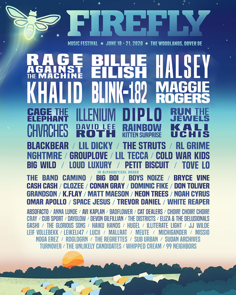 Firefly Music Festival 2020 Lineup