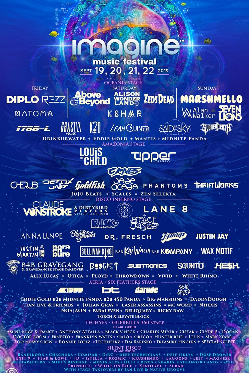Imagine Music Festival 2019 Lineup