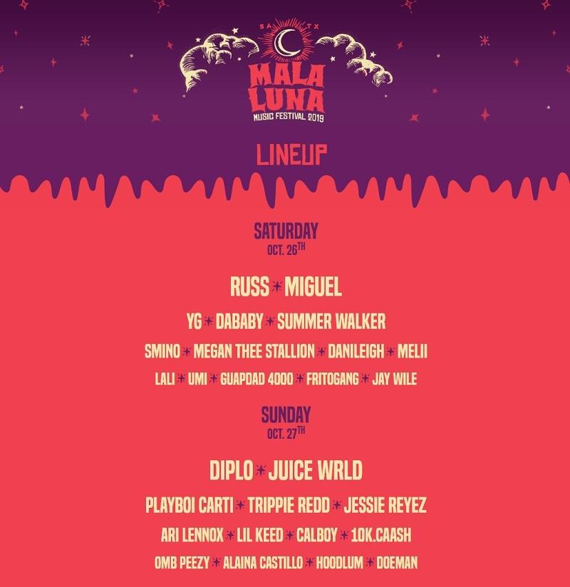Mala Luna Music Festival 2020 Lineup