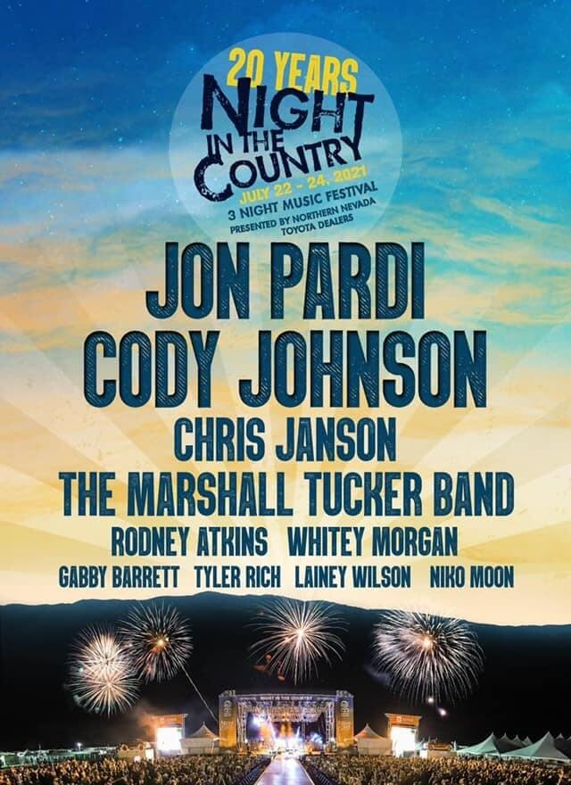 Night in the Country Music Festival Lineup 2021