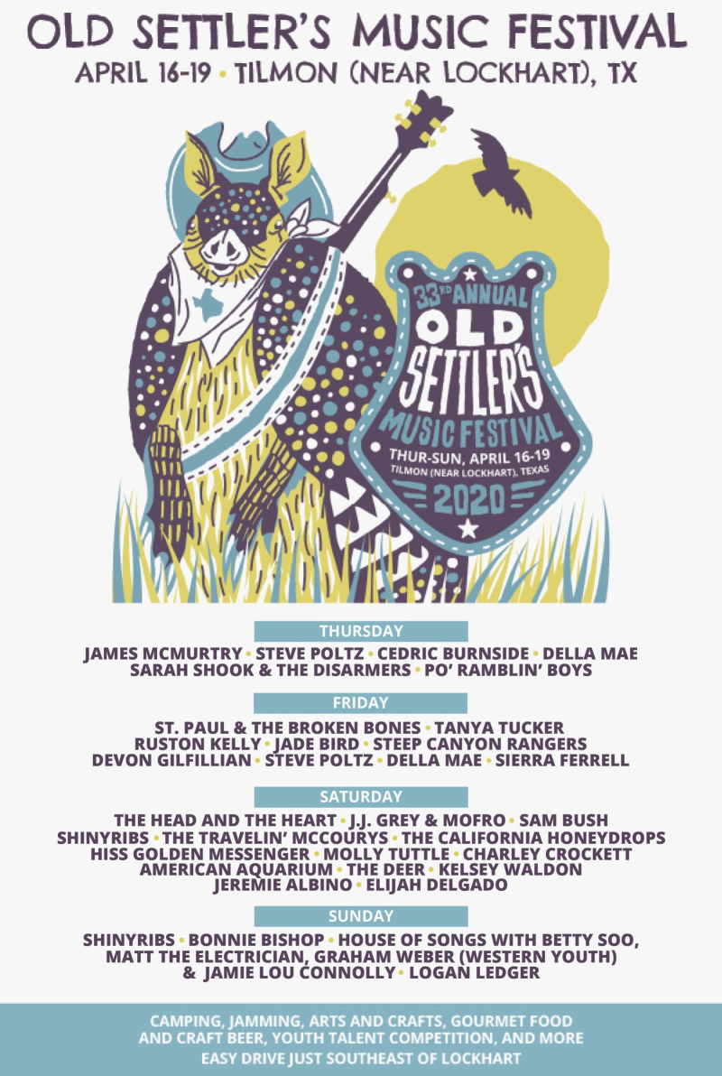 Old Settlers Music Festival Lineup