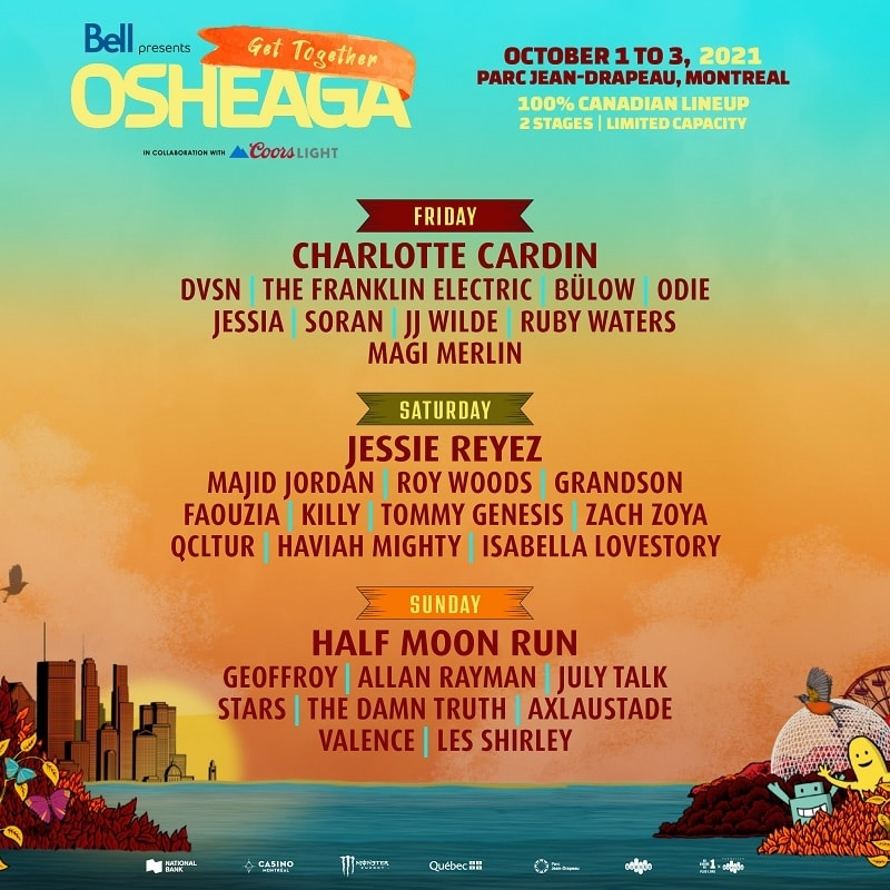 Osheaga Music Festival Lineup 2021