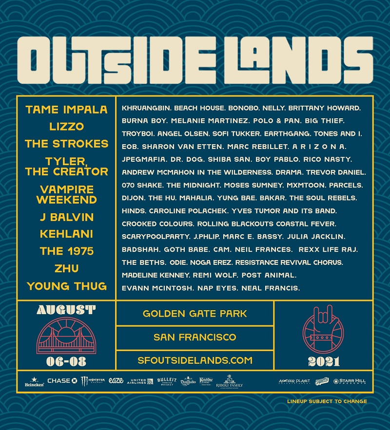 Outside Lands Lineup 2021