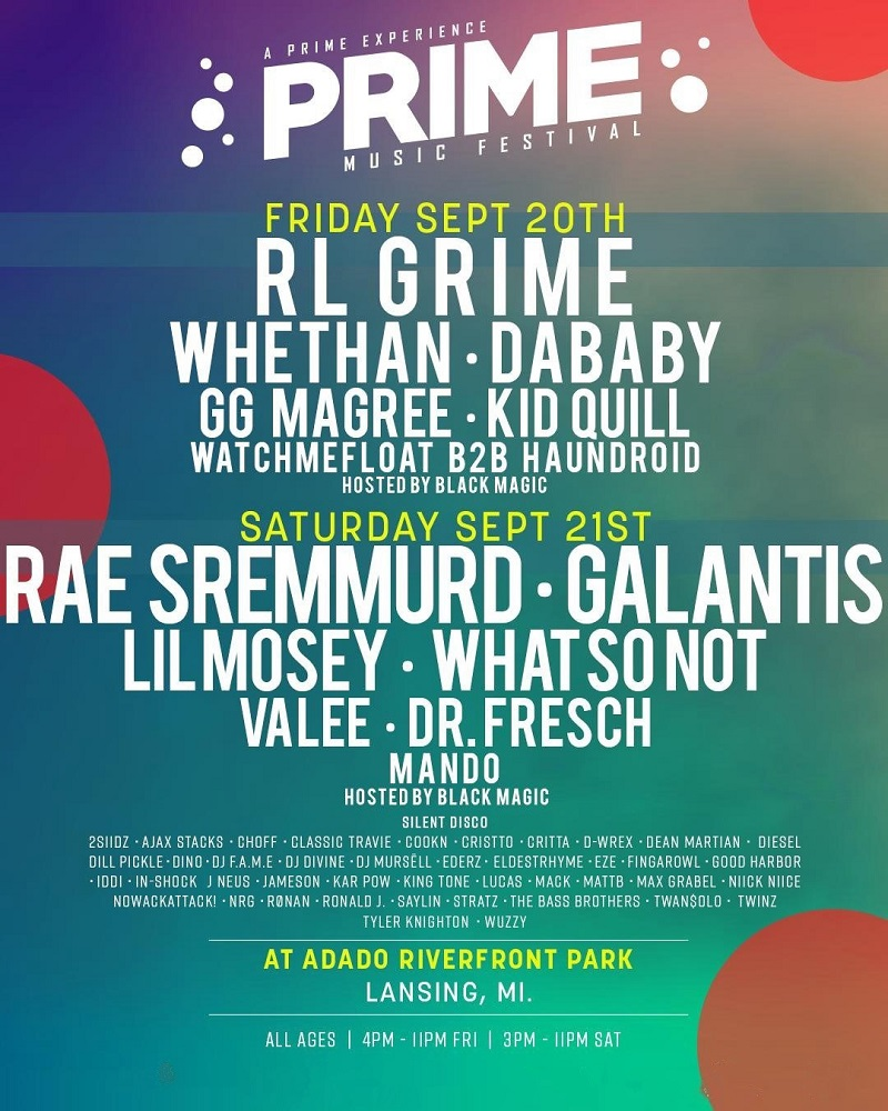 PRIME Music Festival 2020 Michigan Lineup