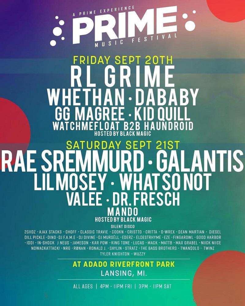 PRIME Music Festival 2019 Michigan Lineup