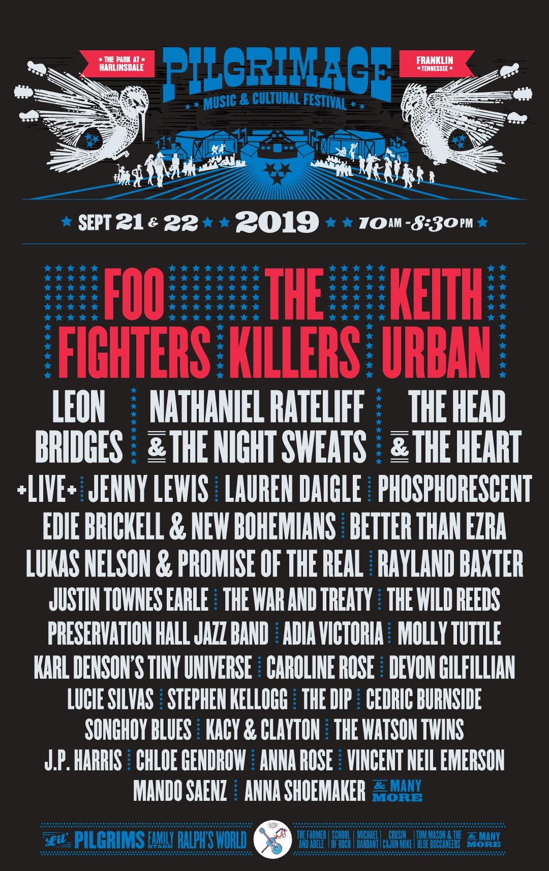 Pilgrimage Music & Cultural Festival Lineup 2019