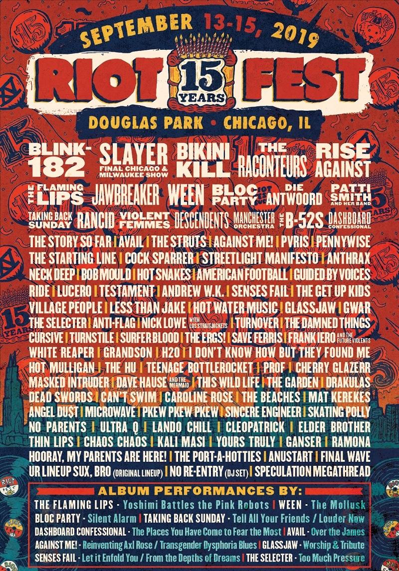 Riot Fest 2020 Lineup