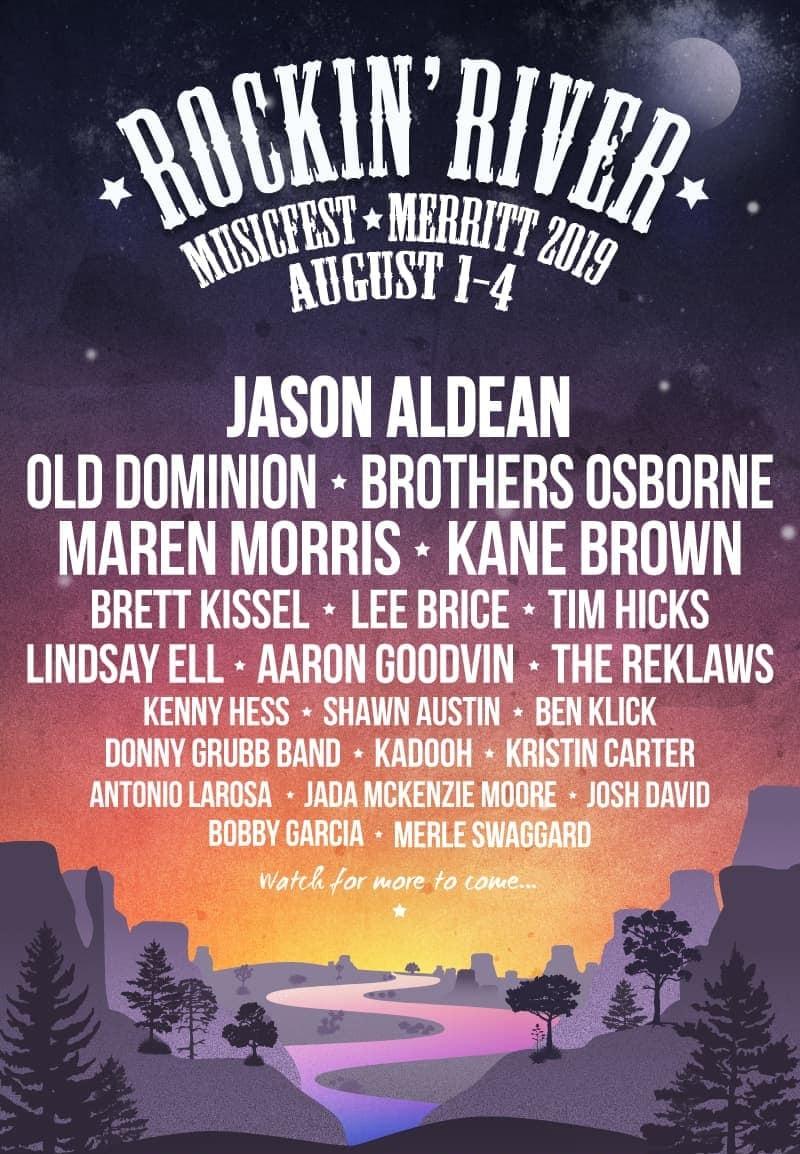 Rockin River Musicfest 2020 Lineup