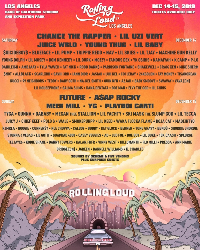 Rolling Loud Festival Los Angeles 2019 Lineup