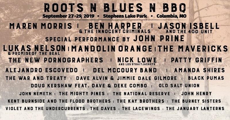 Roots N Blues N BBQ Festival 2020 Lineup