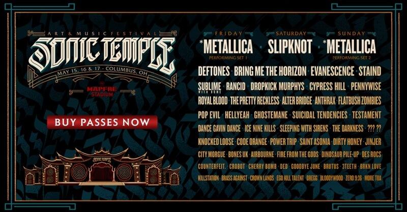 Sonic Temple Festival Lineup