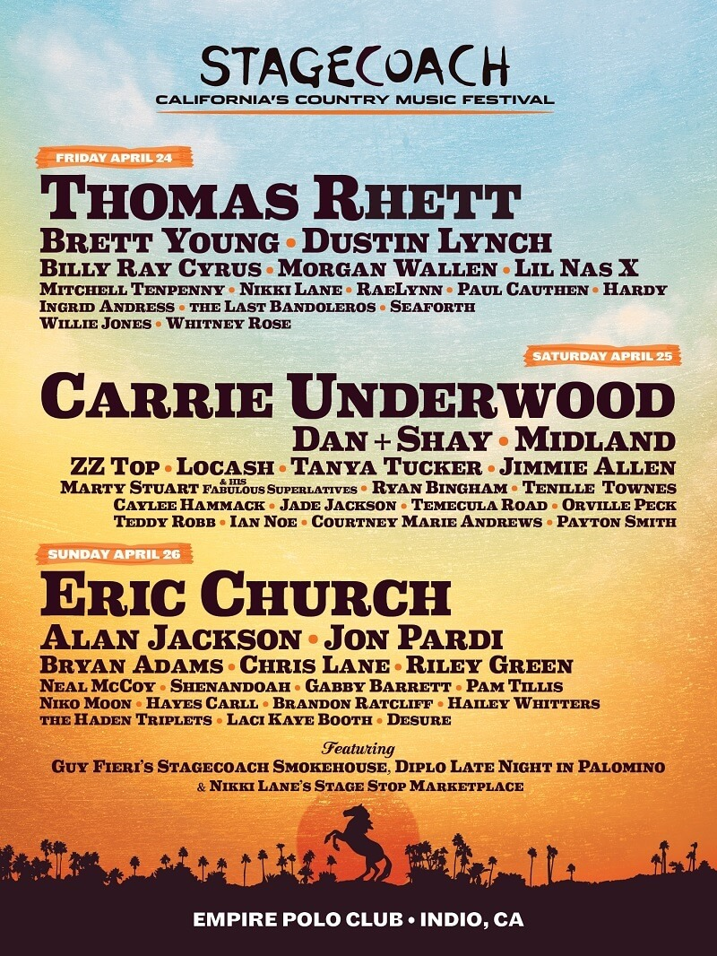 Stagecoach Music Festival 2020 Lineup