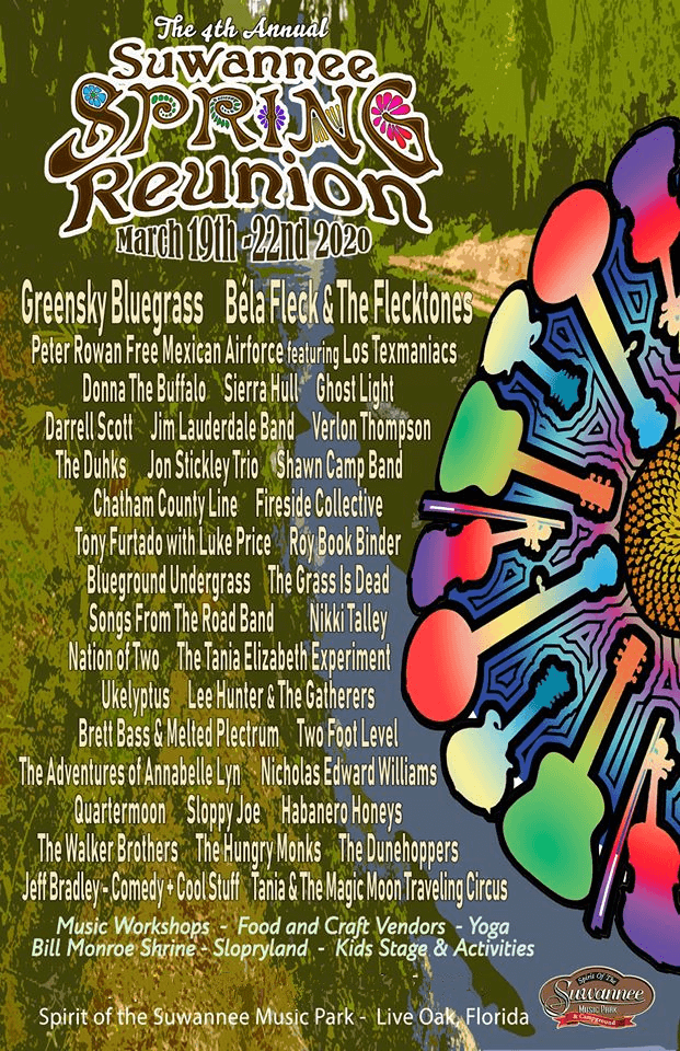 Suwannee Spring Reunion Lineup