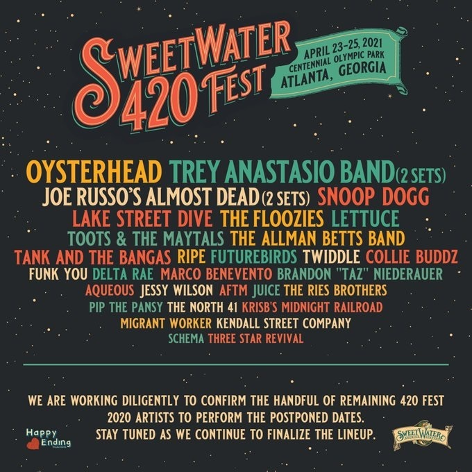 SweetWater 420 Fest Lineup 2021