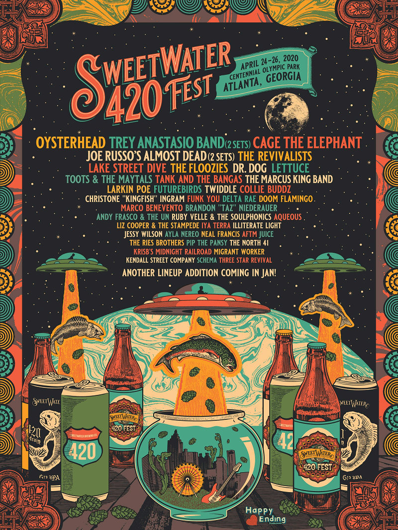 Sweetwater 420 Fest 2020 Lineup