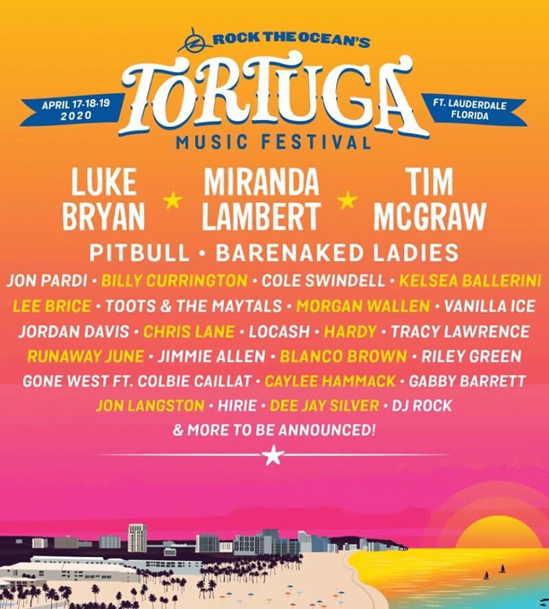 Tortuga Music Festival 2020 Lineup