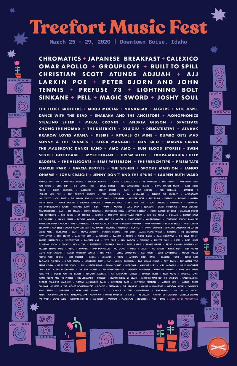 Treefort Music Fest Lineup