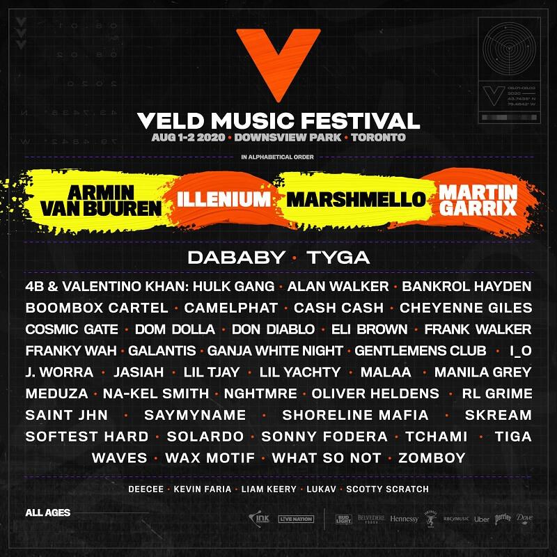 Veld Music Festival Lineup 2020