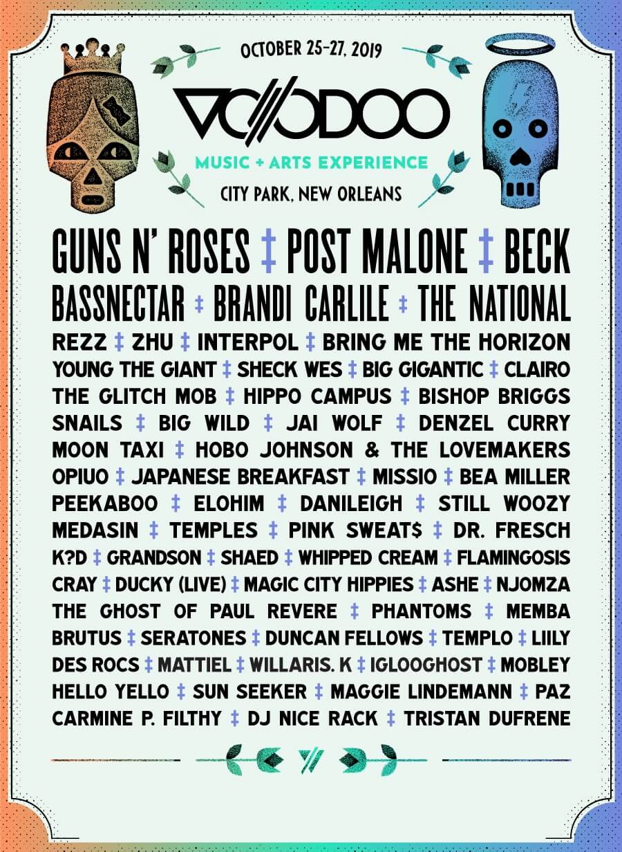 Voodoo Music & Arts Experience 2020 Lineup