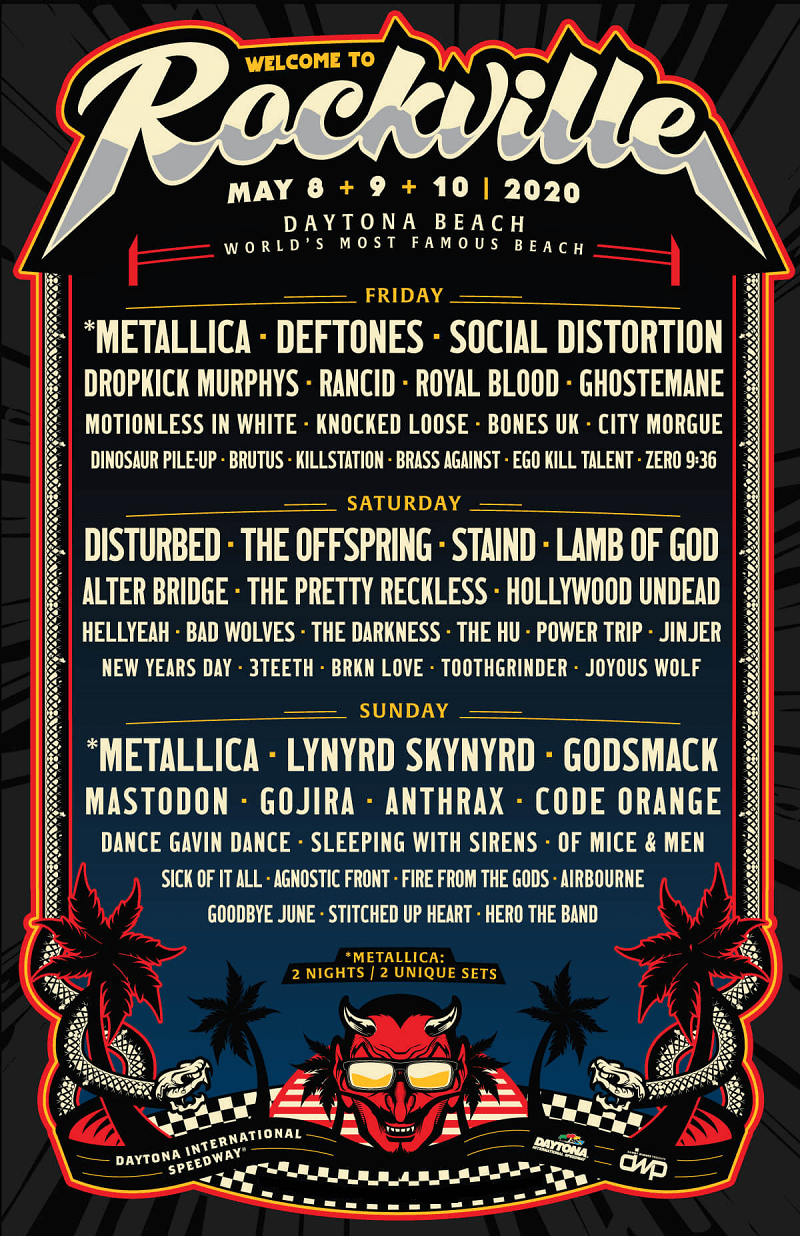 Welcome To Rockville Festival 2020 Lineup