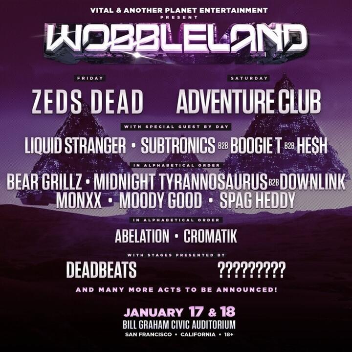 Wobbleland 2020 Lineup
