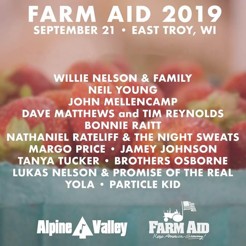 Farm aid festival lineup
