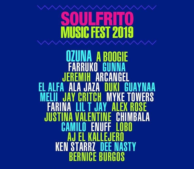 Soulfrito Music Festival Lineup