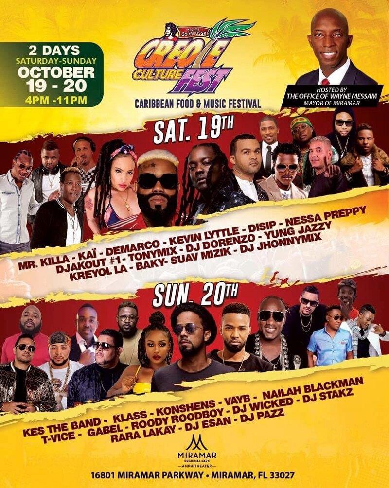 Creole Culture Fest 2019 Lineup