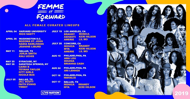 Femme It Forward Tour 2020 Lineup