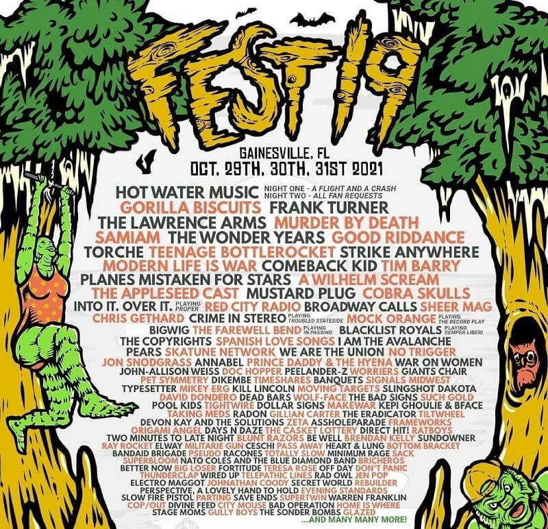 The Fest 19 Lineup 2021