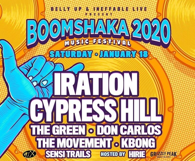 Boomshaka Music Festival 2020 Lineup