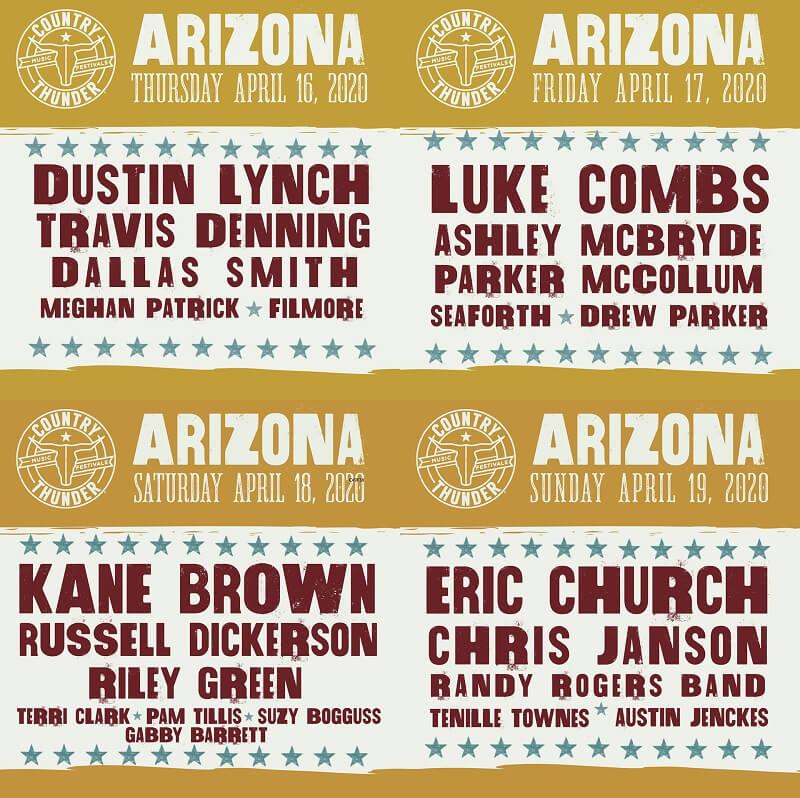 Country Thunder Arizona 2020 Lineup