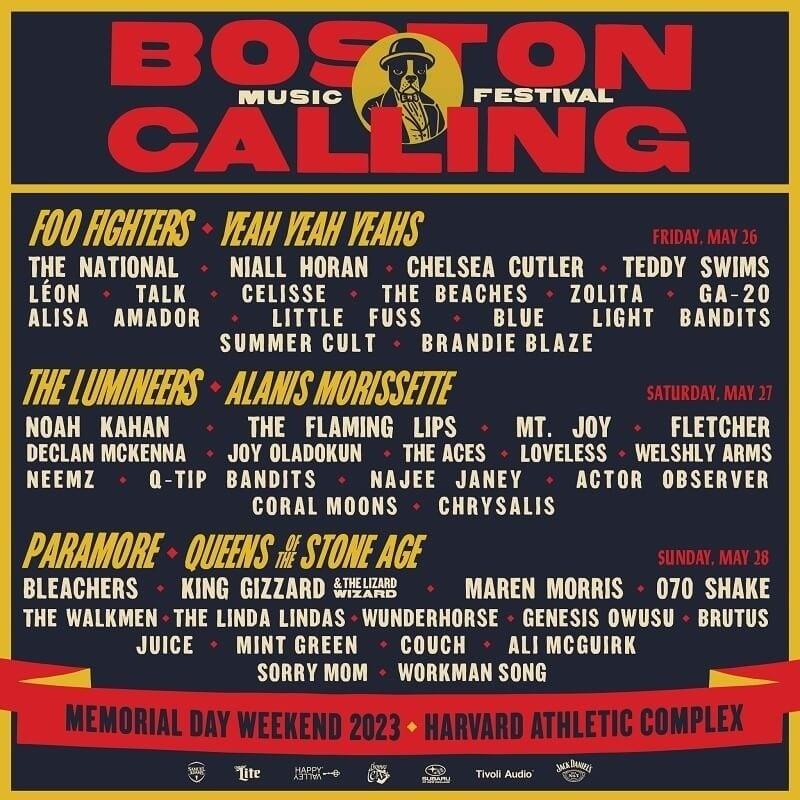 Boston Calling Festival Lineup 2022