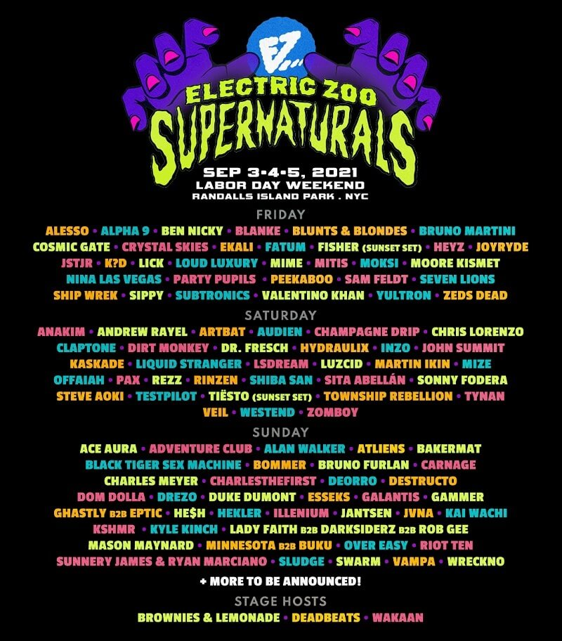 Electric Zoo Festival Lineup 2021