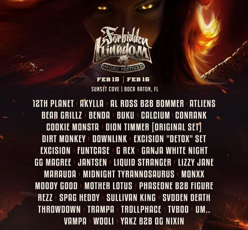 Forbidden Kingdom Music Festival 2020 Lineup