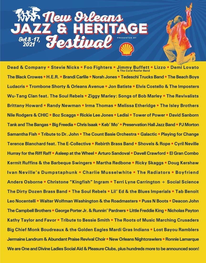 New Orleans Jazz And Heritage Festival Lineup 2021